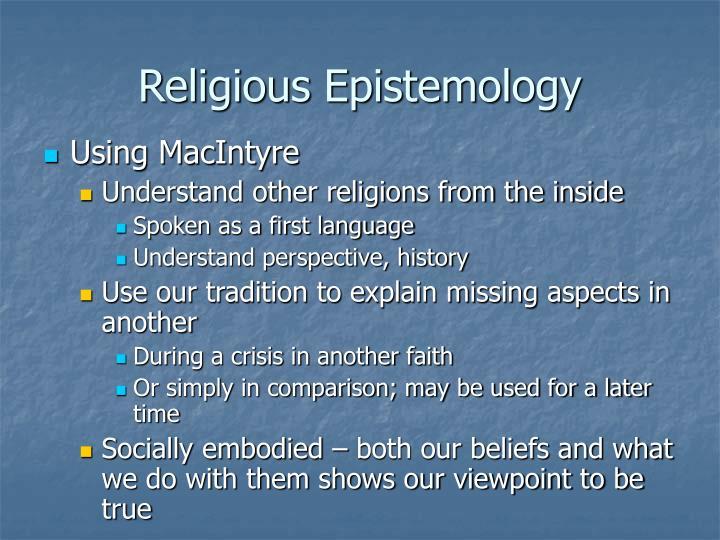 Religious Epistemology