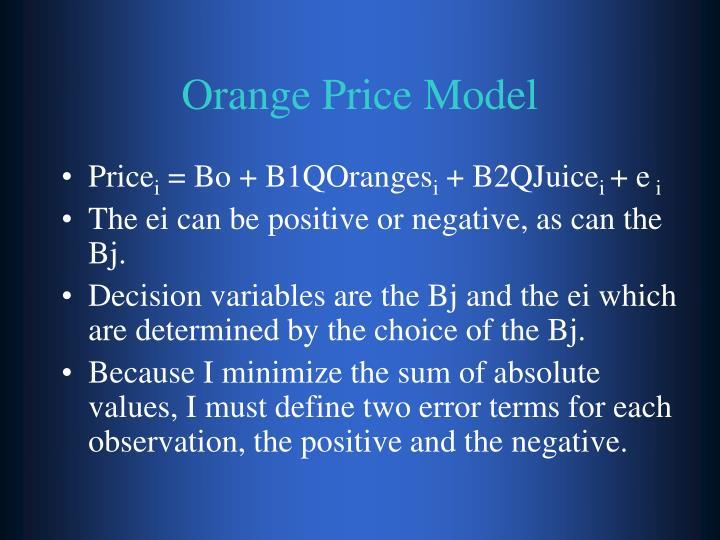 Orange Price Model