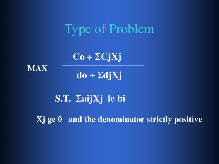 Type of Problem