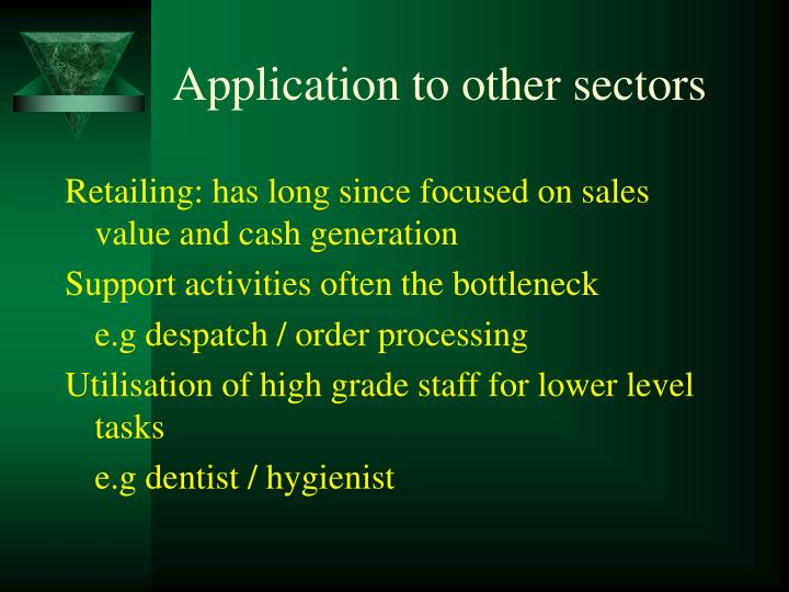 Application to other sectors