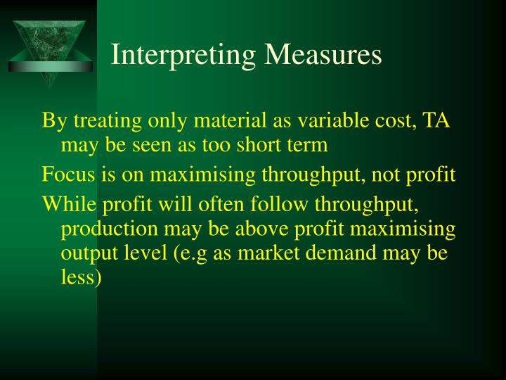 Interpreting Measures