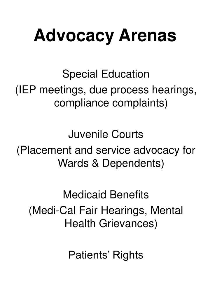 Advocacy Arenas