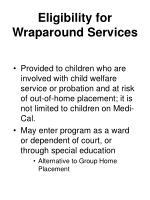 eligibility for wraparound services