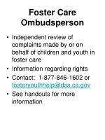 foster care ombudsperson