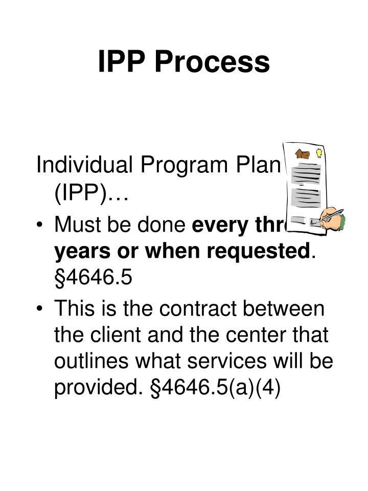 IPP Process