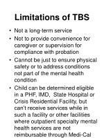 limitations of tbs