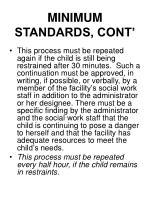 minimum standards cont