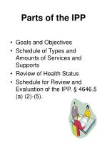 parts of the ipp