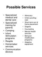 possible services