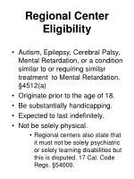 regional center eligibility
