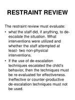 restraint review