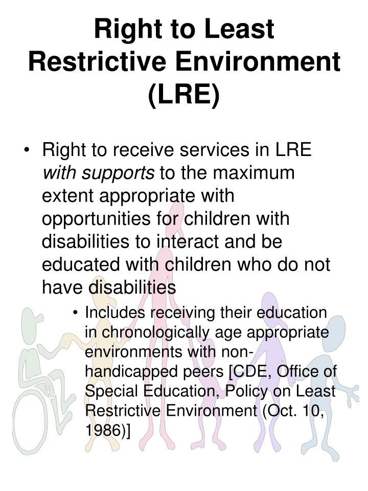 Right to Least Restrictive Environment (LRE)