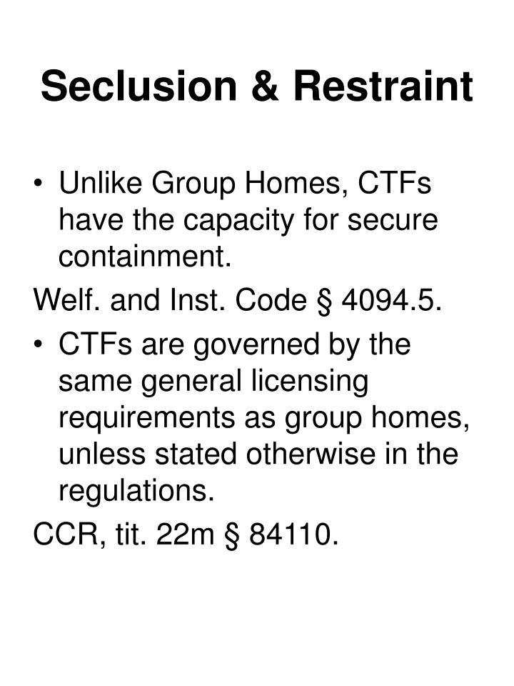Seclusion & Restraint