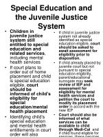 special education and the juvenile justice system