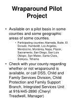 wraparound pilot project