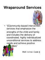 wraparound services