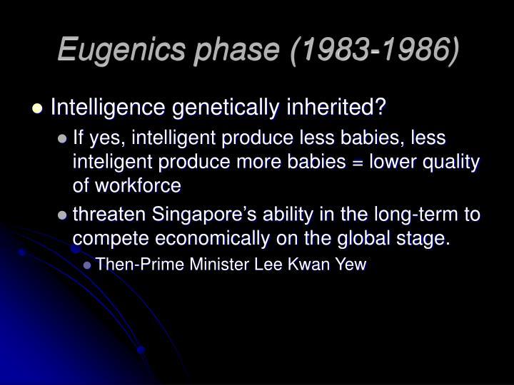 Eugenics phase (1983-1986)