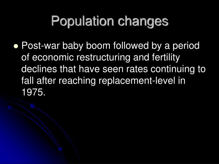 Population changes