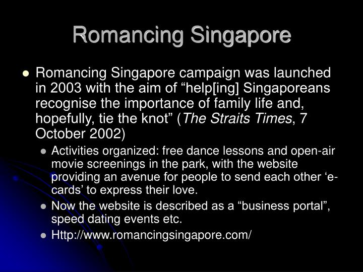 Romancing Singapore