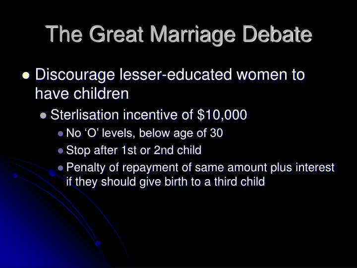 The Great Marriage Debate