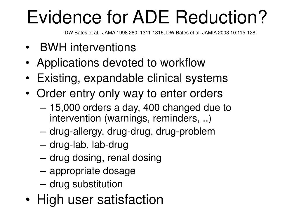 Evidence for ADE Reduction?