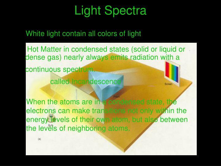 Light Spectra