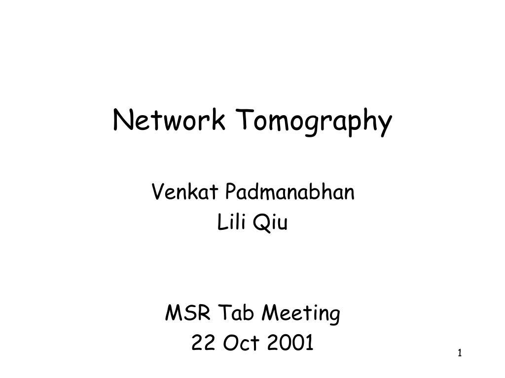 Network Tomography