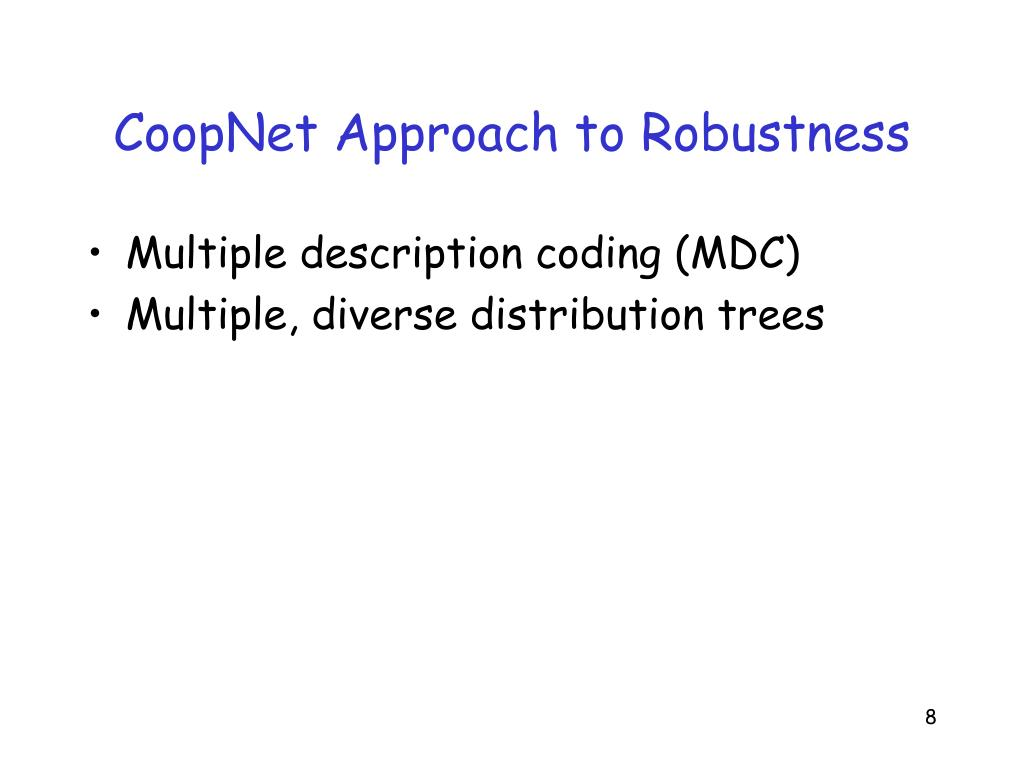 CoopNet Approach to Robustness