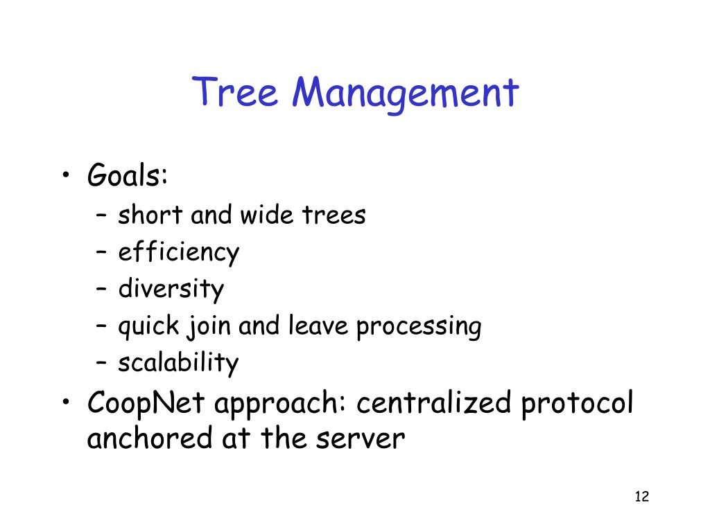 Tree Management