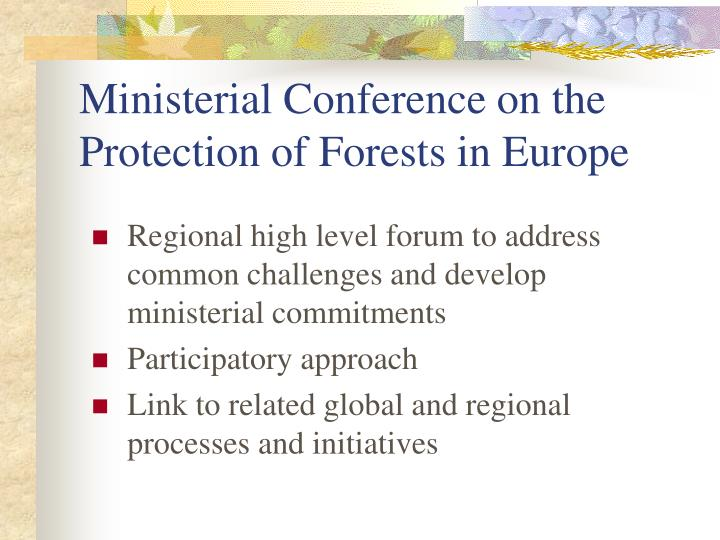 Ministerial Conference on the Protection of Forests in Europe