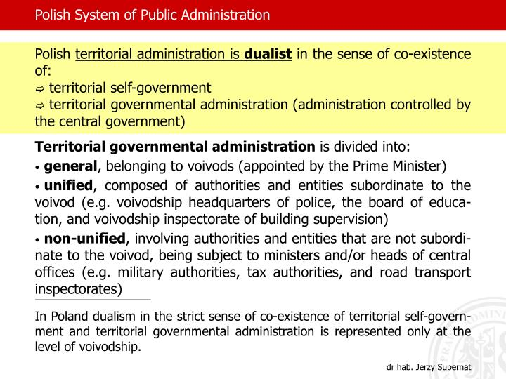Polish System of Public Administration