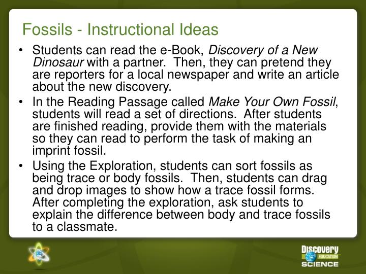 Fossils - Instructional Ideas