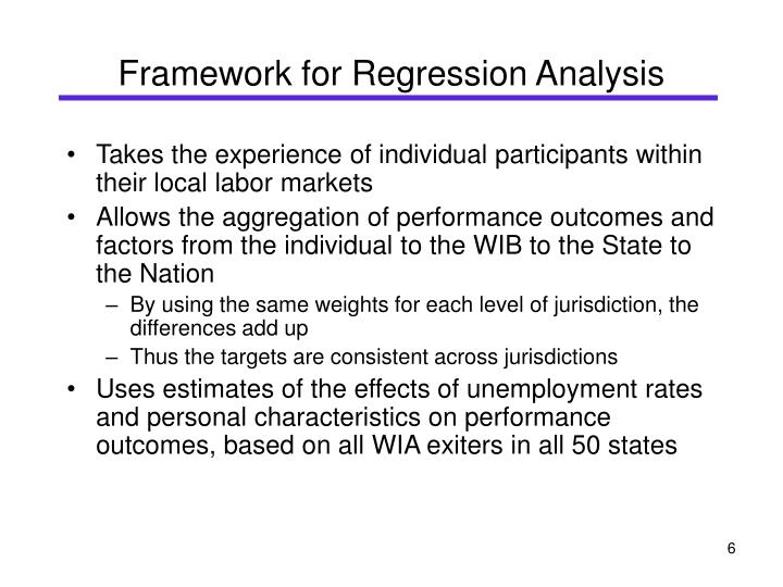 Framework for Regression Analysis