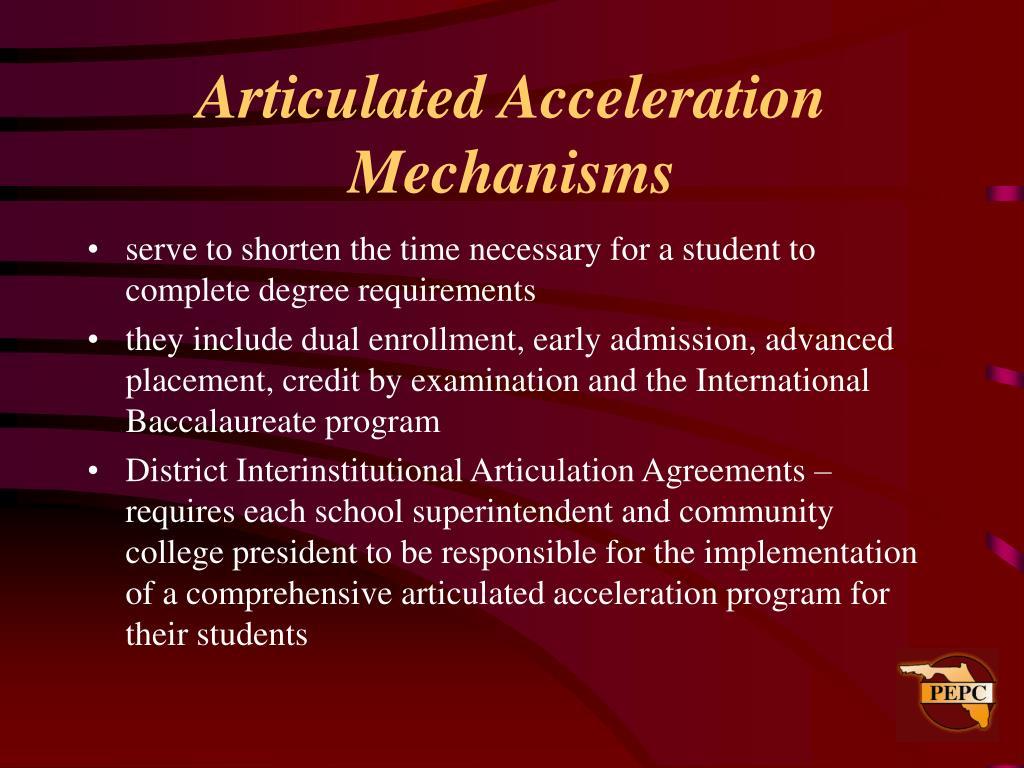 Articulated Acceleration Mechanisms