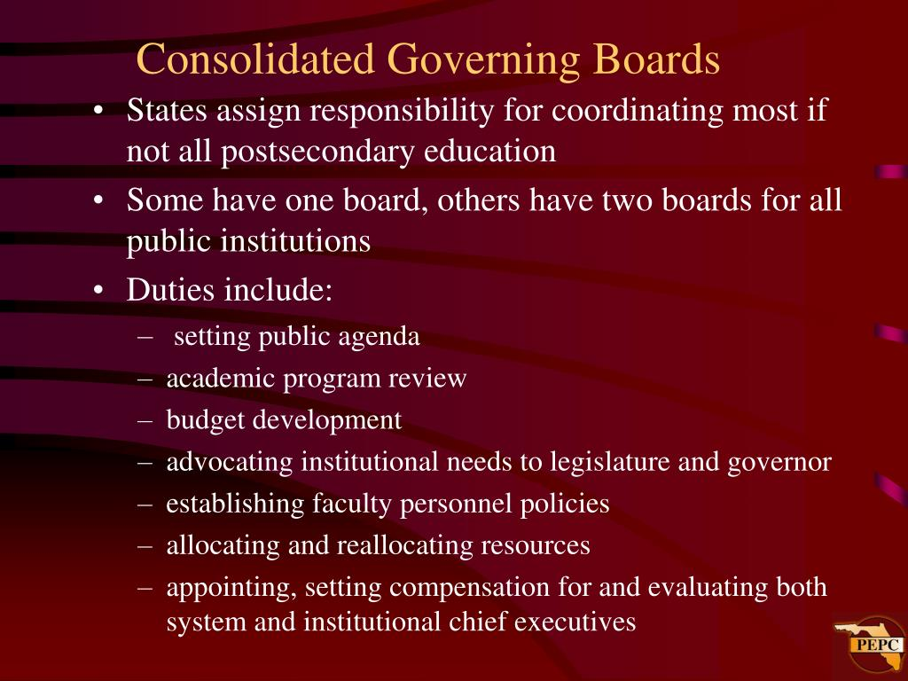 Consolidated Governing Boards