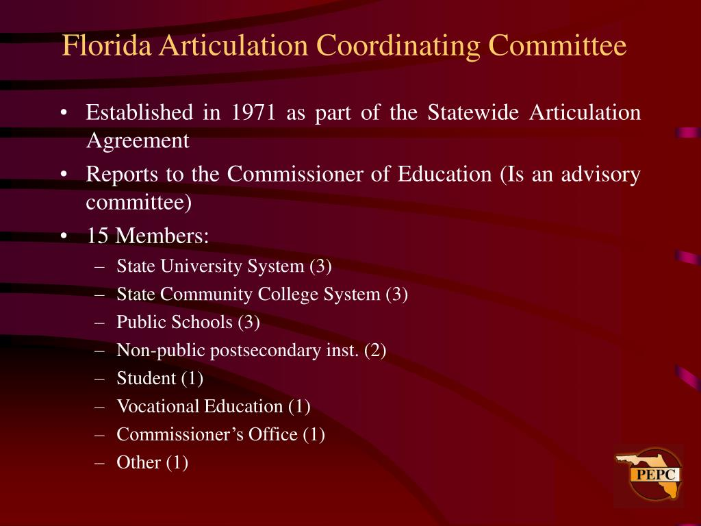 Florida Articulation Coordinating Committee