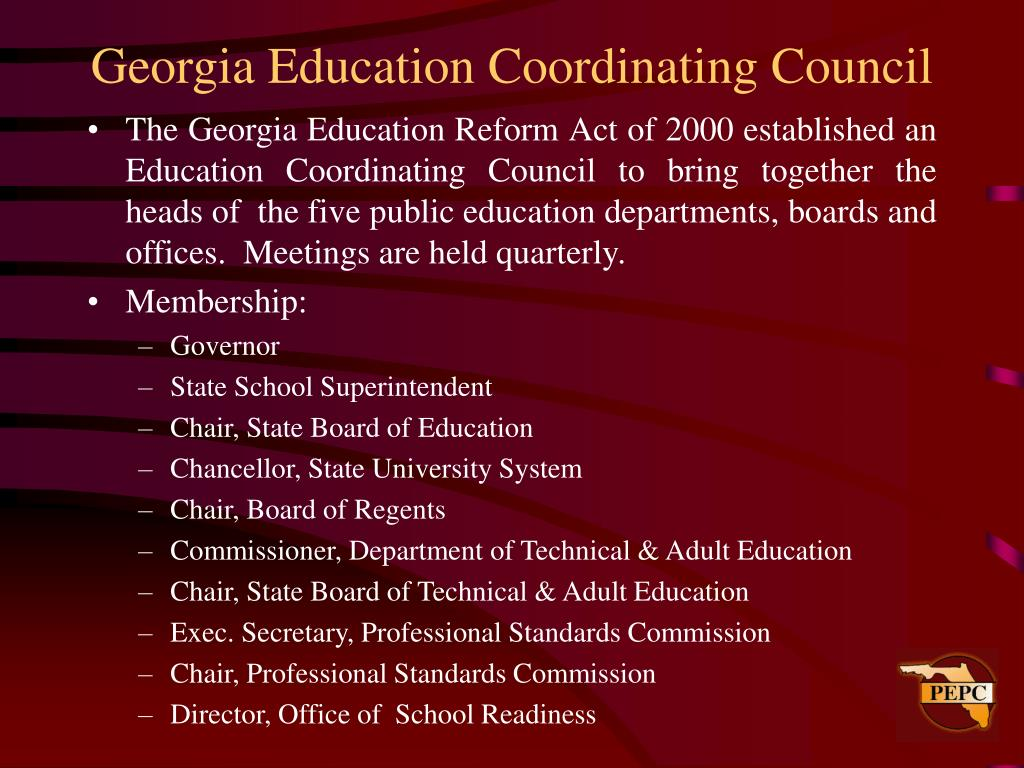 Georgia Education Coordinating Council