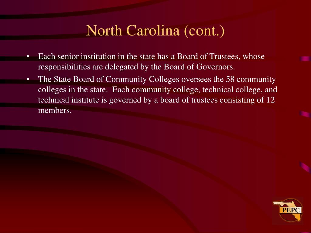 North Carolina (cont.)