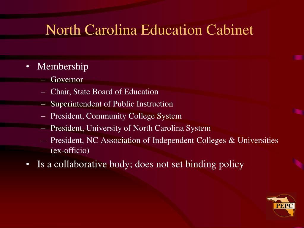 North Carolina Education Cabinet
