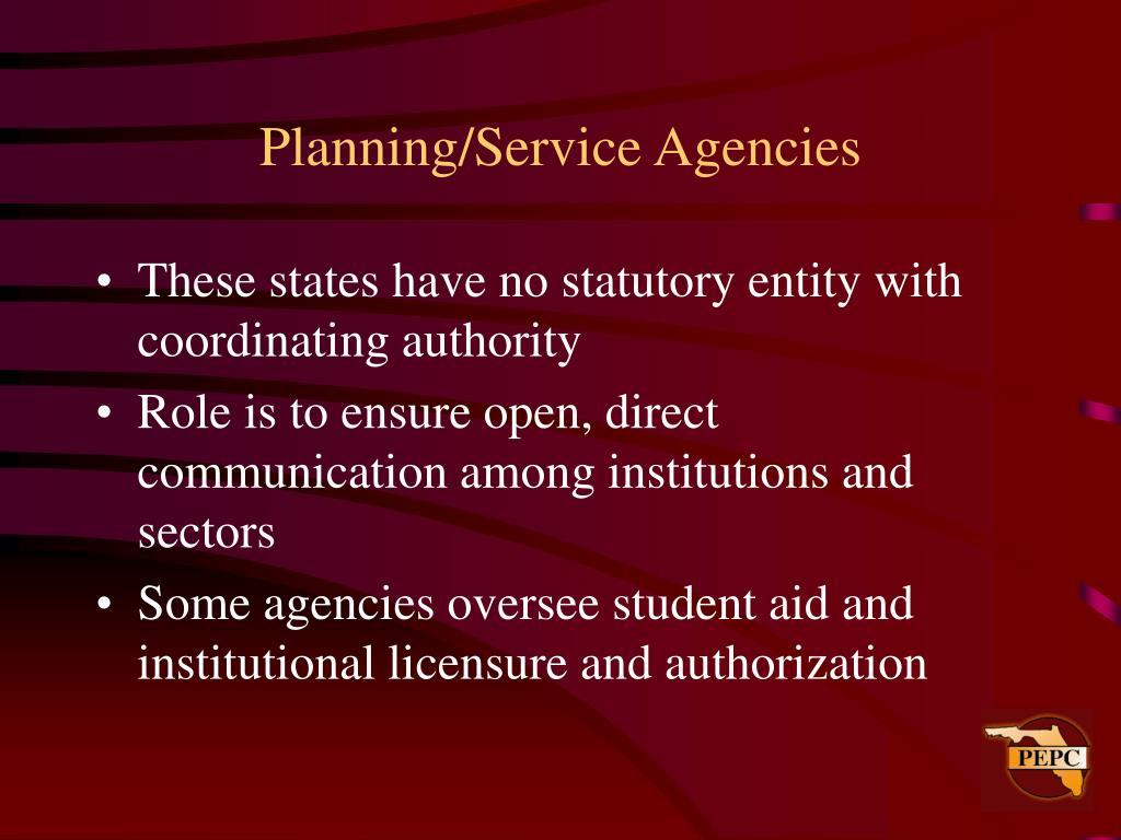 Planning/Service Agencies