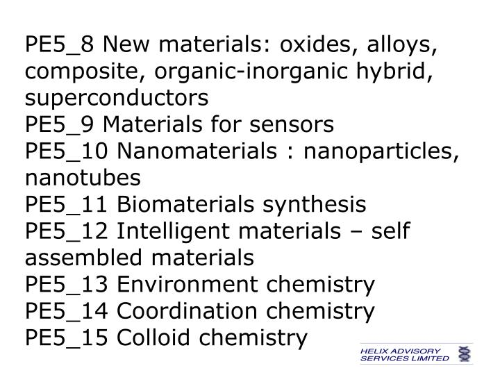 PE5_8 New materials: oxides, alloys, composite, organic-inorganic hybrid, superconductors