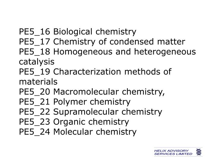 PE5_16 Biological chemistry