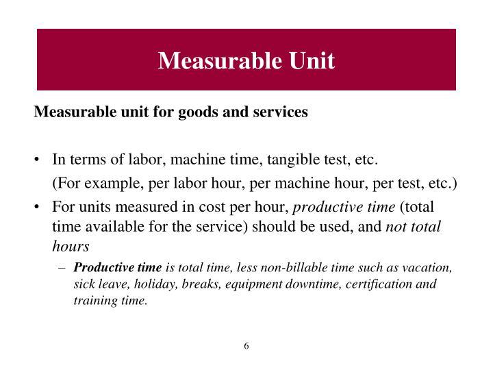 Measurable Unit