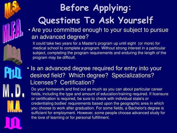 Before Applying: