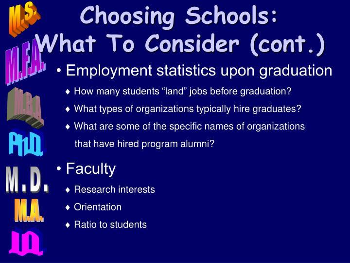 Choosing Schools: