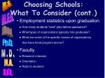 choosing schools what to consider cont