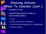 choosing schools what to consider cont1