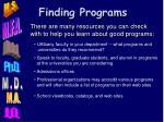 finding programs