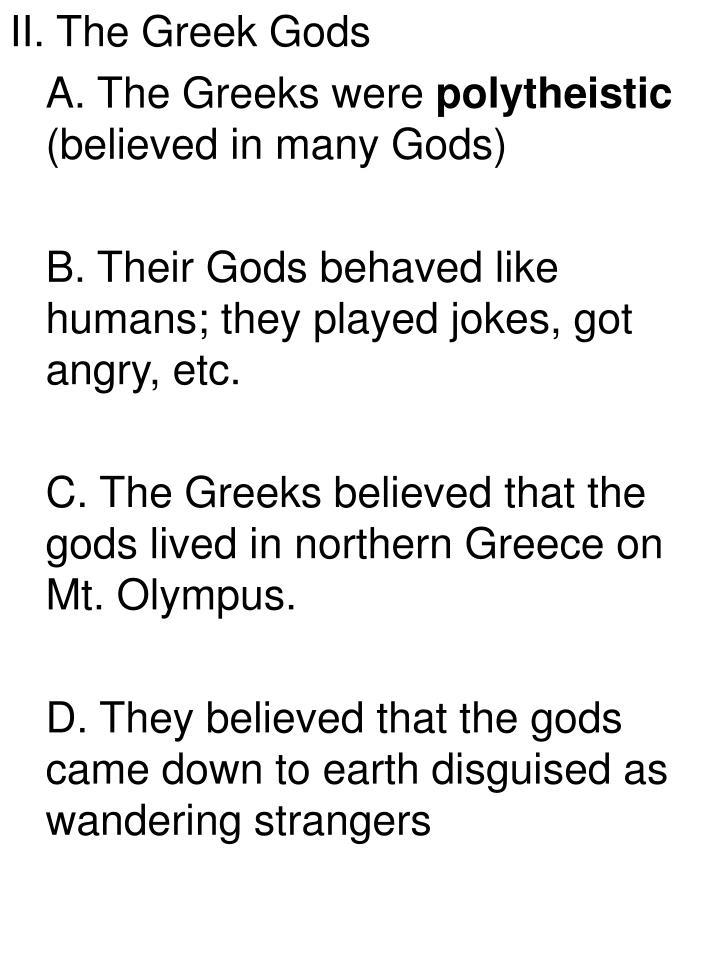 II. The Greek Gods
