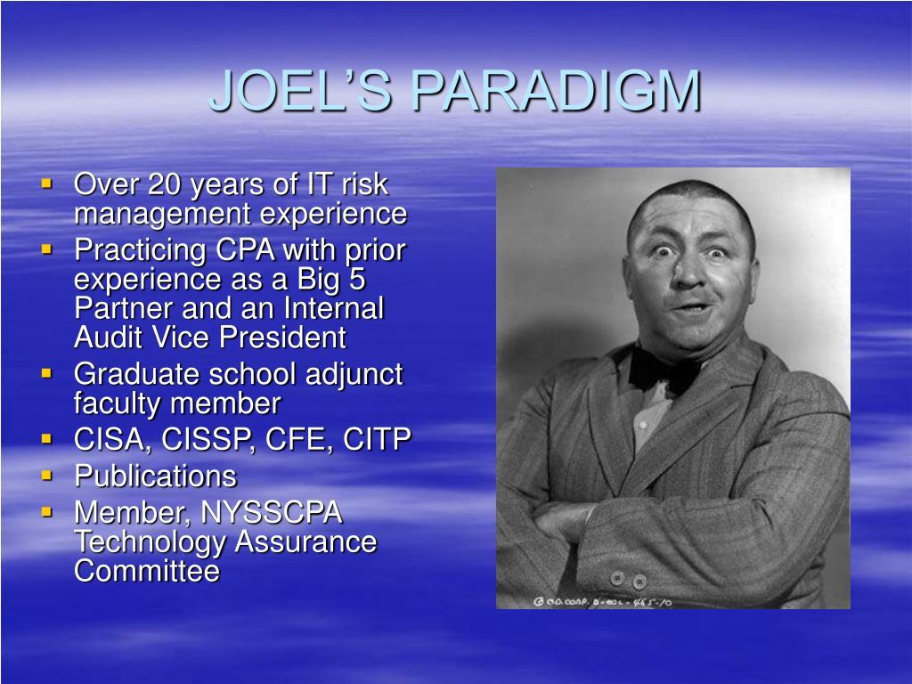JOEL'S PARADIGM